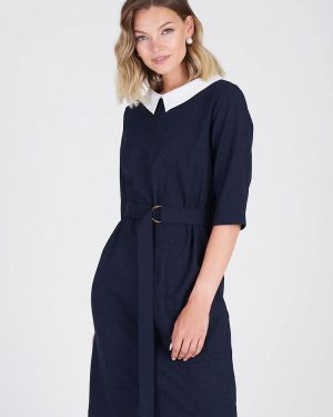 Повседневное платье осеннее синее Eliseeva Olesya