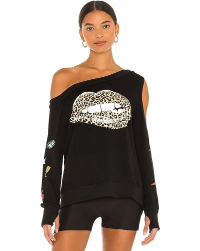 Флисовый пуловер - черный Lauren Moshi
