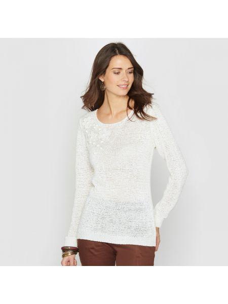 Пуловер с аппликацией трикотажный Anne Weyburn