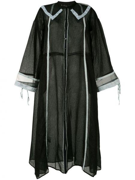 Ажурное платье на пуговицах с воротником свободного кроя Renli Su