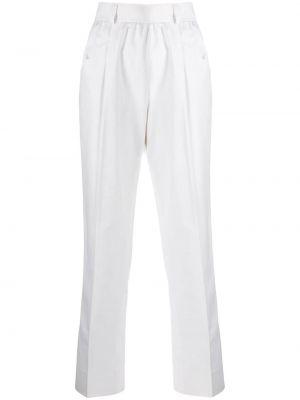 Брюки с карманами белые Yves Saint Laurent Pre-owned