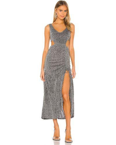 Платье макси с люрексом - синее Kendall + Kylie