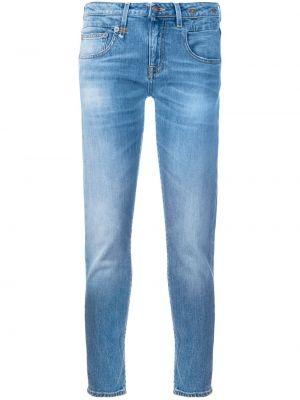 Укороченные джинсы скинни синие R13