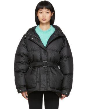 Куртка с капюшоном черная длинная Ienki Ienki