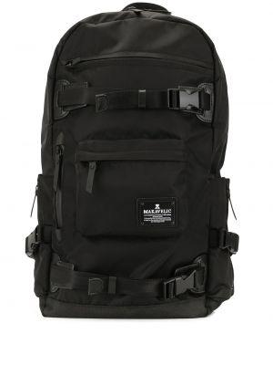 Черная сумка на плечо с пряжкой Makavelic