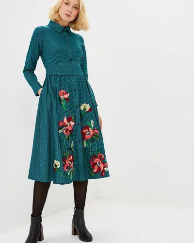 Платье бирюзовый платье-рубашка Yukostyle