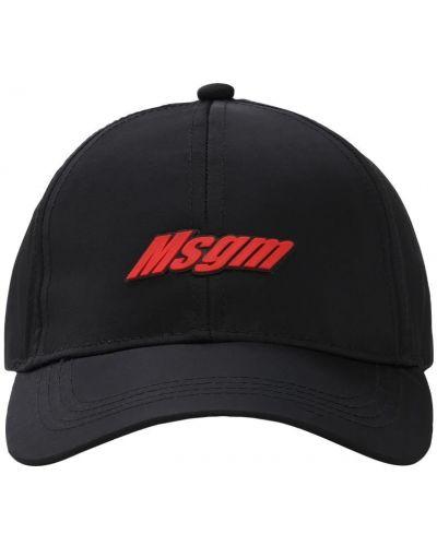Baseball czarny kapelusz z haftem Msgm