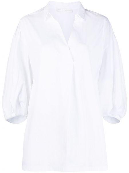 Белая блузка с воротником с вырезом Fabiana Filippi