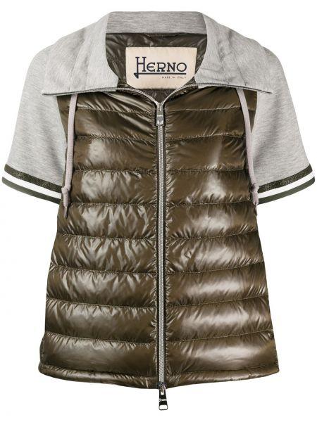 Стеганая куртка на молнии укороченная Herno