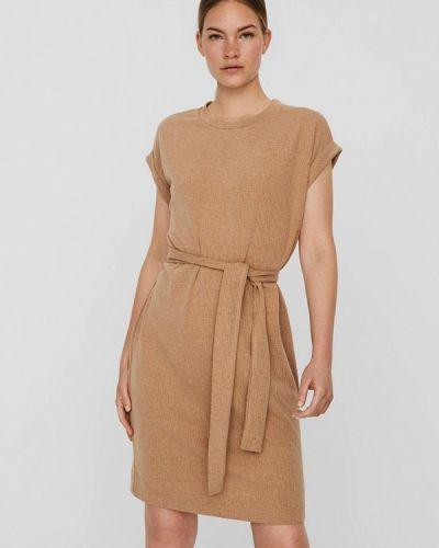 Бежевое платье летнее Vero Moda
