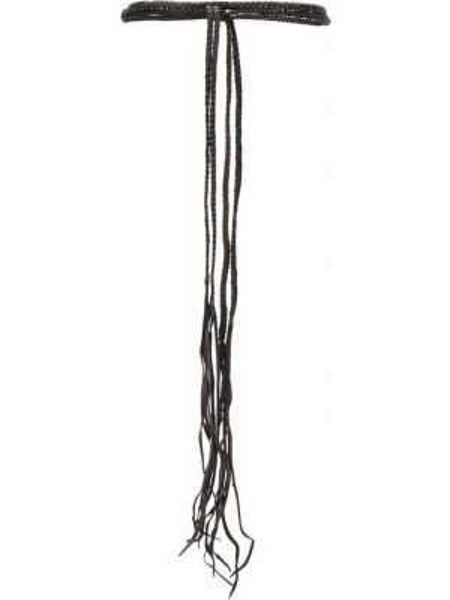Кожаный черный ремень с поясом Caravana