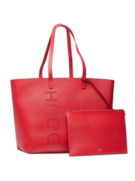 Torba na zakupy - czerwona Hugo