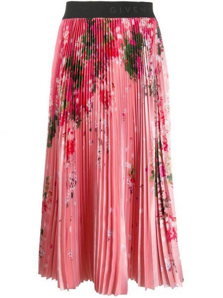 Юбка миди с цветочным принтом в складку Givenchy