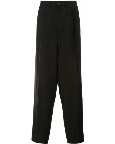 Черные деловые брюки свободного кроя на молнии Yohji Yamamoto Pre-owned
