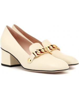 Кожаные туфли классические жёлтые Gucci