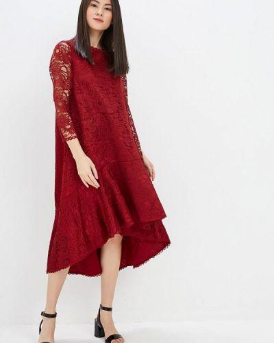 Вечернее платье весеннее красный Madam T