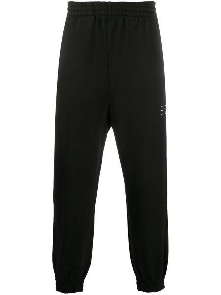 Bawełna bawełna czarny klasyczne spodnie z mankietami Mcq Alexander Mcqueen