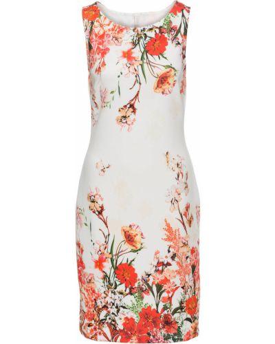 Платье с цветочным принтом футляр Bonprix