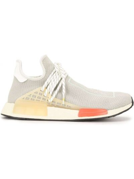 Beżowe sneakersy sznurowane koronkowe Adidas By Pharrell Williams