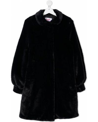 Черное пальто классическое с воротником с карманами Il Gufo