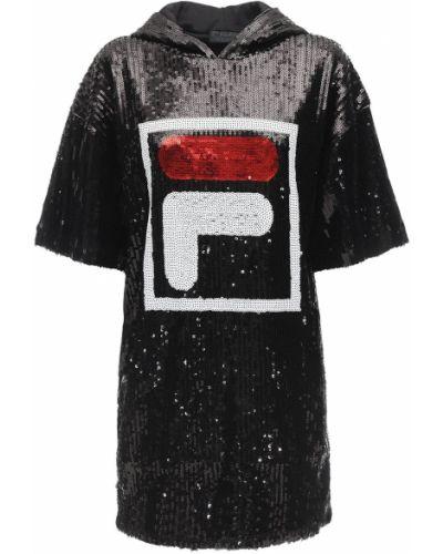 Платье с пайетками с капюшоном Fila Urban