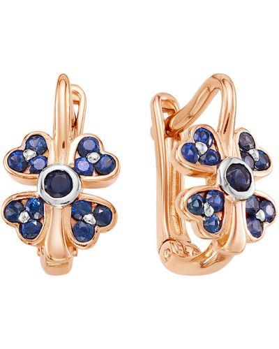 Серьги c сапфиром Vesna Jewelry