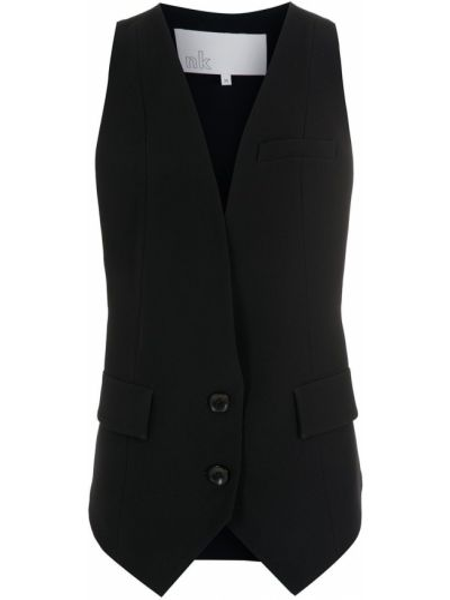 Черная жилетка без рукавов НК