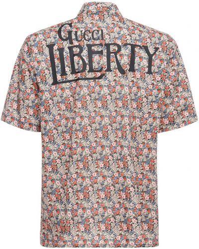 Bawełna koszula z kieszeniami na przyciskach z perłami Gucci
