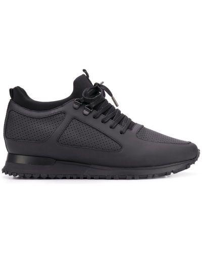 Кроссовки с логотипом черные Mallet Footwear