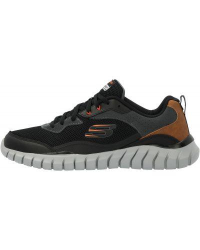 Мягкие кожаные черные кроссовки Skechers