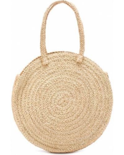 Бежевая пляжная сумка Artesano