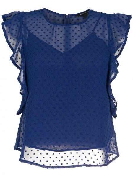 Блузка без рукавов - синяя Armani Exchange