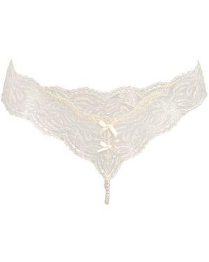 Majtki koronkowe perły sznurowane Bracli