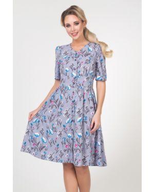 Платье с поясом на пуговицах с цветочным принтом Valentina