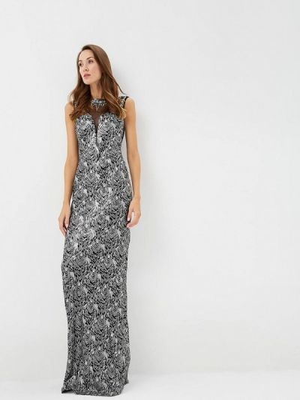 Серебряное зимнее вечернее платье Soky & Soka