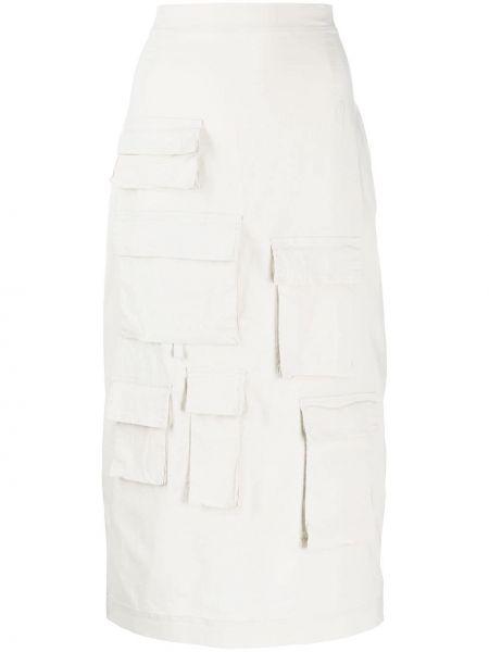 Прямая с завышенной талией юбка с карманами из вискозы Rundholz