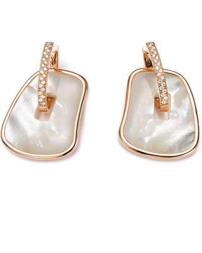 Różowe złote kolczyki sztyfty perły Mattioli