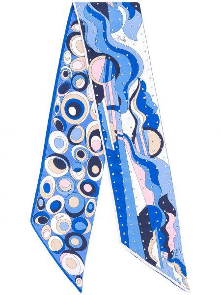 Jedwab niebieski gumka do włosów na szyi Emilio Pucci