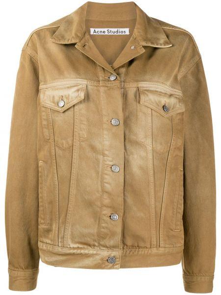 Джинсовая куртка длинная леопардовая Acne Studios