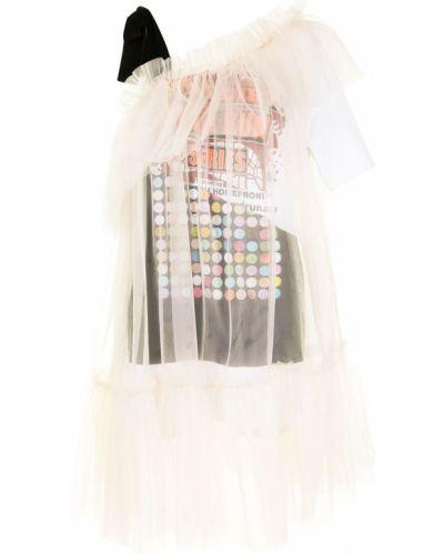 Асимметричное платье из фатина с оборками Viktor & Rolf