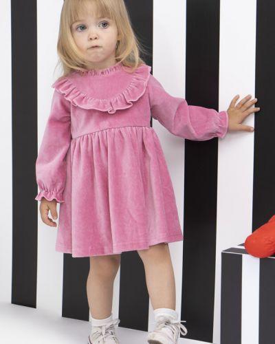 Платье с рукавами бархатное свободного кроя Playtoday Baby