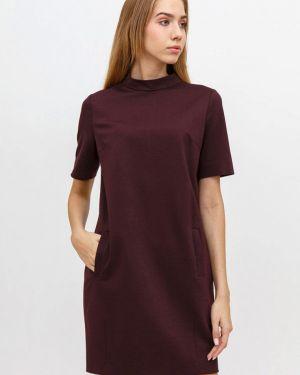 Платье бордовый прямое Bizzarro
