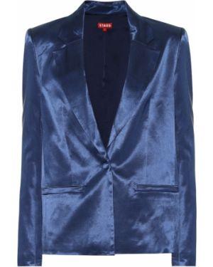 Сатиновый костюмный пиджак Staud