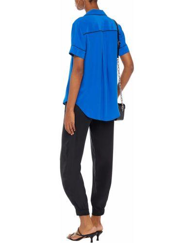 Niebieska koszula z jedwabiu Rag & Bone