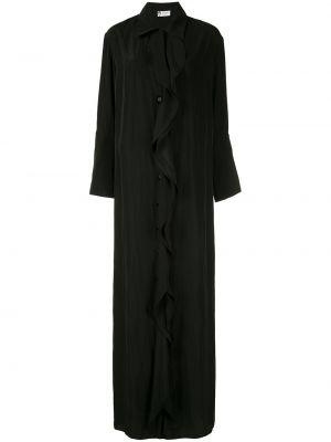 Классическое платье на пуговицах с воротником с оборками Lanvin
