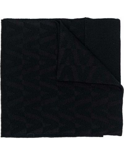 Szalik z wiskozy - czarny Valentino