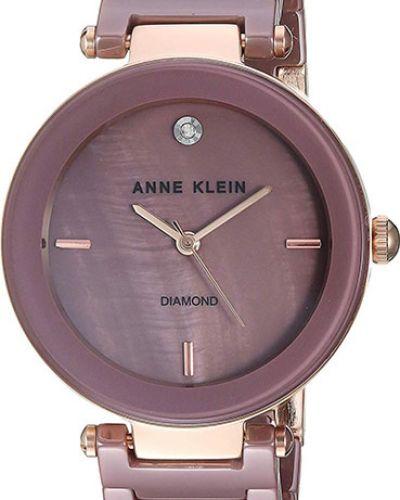 Часы металлические - фиолетовые Anne Klein