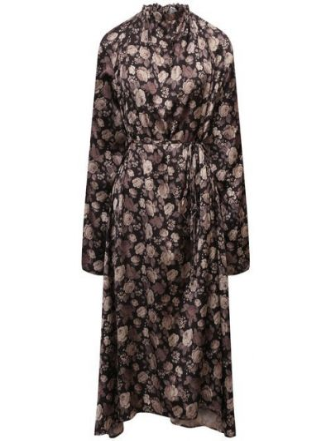 Платье из полиэстера - коричневое Balenciaga