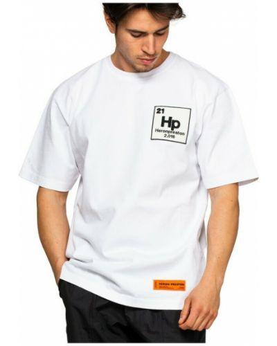 T-shirt z printem - biała Heron Preston