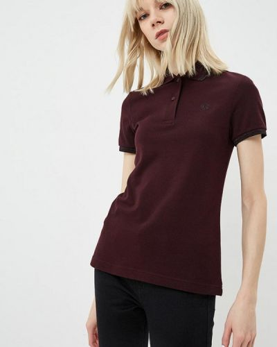 Бордовое поло Fred Perry